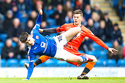 Joe Rowley of Chesterfield is fouled by Dominic Gape of Wycombe Wanderers - Mandatory by-line: Robbie Stephenson/JMP - 28/04/2018 - FOOTBALL - Proact Stadium - Chesterfield, England - Chesterfield v Wycombe Wanderers - Sky Bet League Two