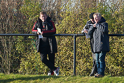 KIRKBY, ENGLAND - Tuesday, November 16, 2010: Liverpool's Kenny Dalglish watches the reserve side take on Blackpool during the FA Premiership Reserves League (Northern Division) match at the Kirkby Academy. (Pic by: David Rawcliffe/Propaganda)