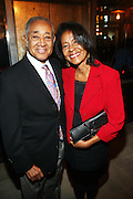 l to r:  Bryon Lewis and Guest at Rev. Al Sharpton's 55th Birthday Celebration and his Salute to Women on Distinction held at The Penthouse of the Soho Grand on October 6, 2009 in New York City