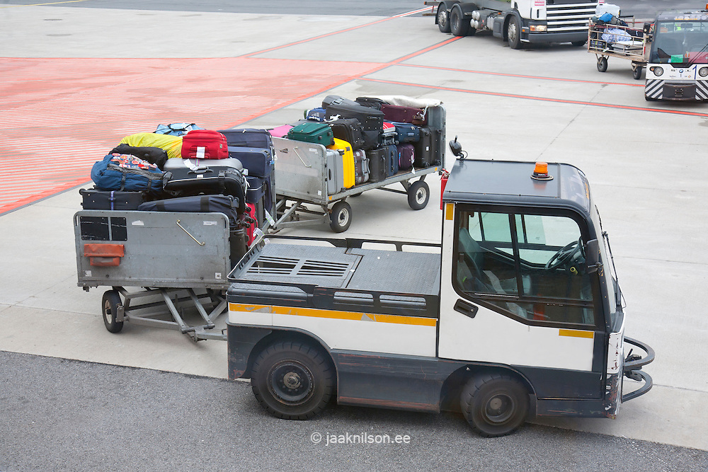 luggage car transport in airport