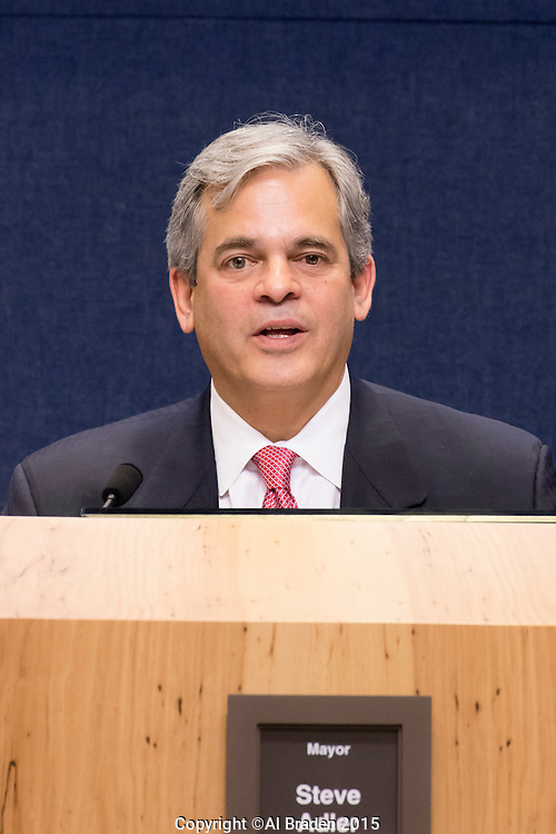 Mayor Steve Adler at Austin City Council Meeting