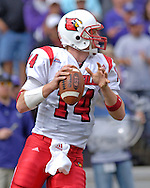 Louisville Cardinals quarterback Hunter Cantwell drops back to pass against Kansas State at Bill Snyder Family Stadium in Manhattan, Kansas, September 23, 2006.  The 8th ranked Louisville Cardinals beat K-State 24-6.