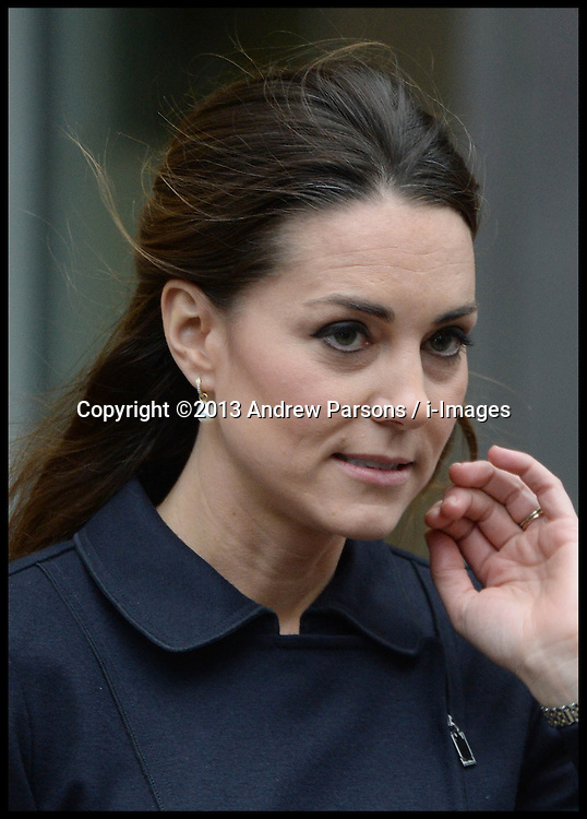 The Duchess of Cambridge leaves the charity Place2Be, in Canary Wharf, London, Wednesday, 20th November 2013. Picture by Andrew Parsons / i-Images