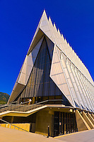 Cadet Chapel, Air Force Academy, near Colorado Springs, Colorado USA