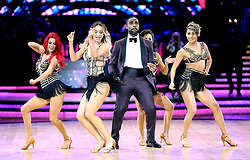 Host Ore Oduba (centre) dances with Dianne Buswell (left) Luba Mushtuk, Janette Manrara and Karen Clifton during a photocall before the opening night of the Strictly Come Dancing Tour 2019 at the Arena Birmingham, in Birmingham. Picture date: Thursday January 17, 2019. Photo credit should read: Aaron Chown/PA Wire
