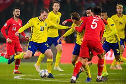 November 17, 2018 - Konya, TURKEY - 181117 Jakob Johansson of Sweden during the Nations League football match between Turkey and Sweden on November 17, 2018 in Konya..Photo: Joel Marklund / BILDBYRN / kod JM / 87808 (Credit Image: © Joel Marklund/Bildbyran via ZUMA Press)