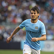 David Silva, Manchester City, in action during the Manchester City V Chelsea friendly exhibition match at Yankee Stadium, The Bronx, New York. Manchester City won the match 5-3. New York. USA. 25th May 2012. Photo Tim Clayton