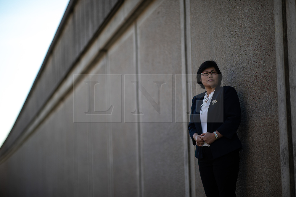 © Licensed to London News Pictures . 25/09/2018 . Bury , UK . North Korean refugee JIHYUN PARK (50) near to her home in Bury . Jihyun was imprisoned , tortured and trafficked by the regime in North Korea before she managed to escape with the help of her husband . Photo credit : Joel Goodman/LNP