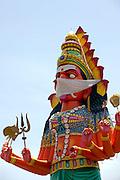 Unfinshed statue to Godess Kali. Tamil Nadu.