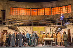 © Licensed to London News Pictures. 20/05/2013. Welsh National Opera present Wagner's Lohengrin, in a co-production with Theatr Wielki, Warsaw. Wales Millennium Centre, Cardiff. Featuring Matthew Best (Henrich der Vogler). Photo credit: Tony Nandi/LNP.