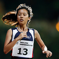 Joey Yap of Nanyang Polytechnic in action during the women's 5000m event. (Photo &copy; Lim Yong Teck/Red Sports) The 2018 Institute-Varsity-Polytechnic Track and Field Championships were held over three days in January.<br />