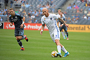Magnus Eriksson of the San Jose Earthquakes during a MLS soccer game against the New York City FC, Saturday, Sept. 14, 2019, in New York.NYCFC defeated San Jose Earthquakes 2-1.(Errol Anderson/Image of Sport)