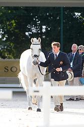 Michael Eilberg, (GBR), Half Moon Delphi - Horse Inspection Dressage - Alltech FEI World Equestrian Games™ 2014 - Normandy, France.<br /> © Hippo Foto Team - Leanjo de Koster<br /> 25/06/14