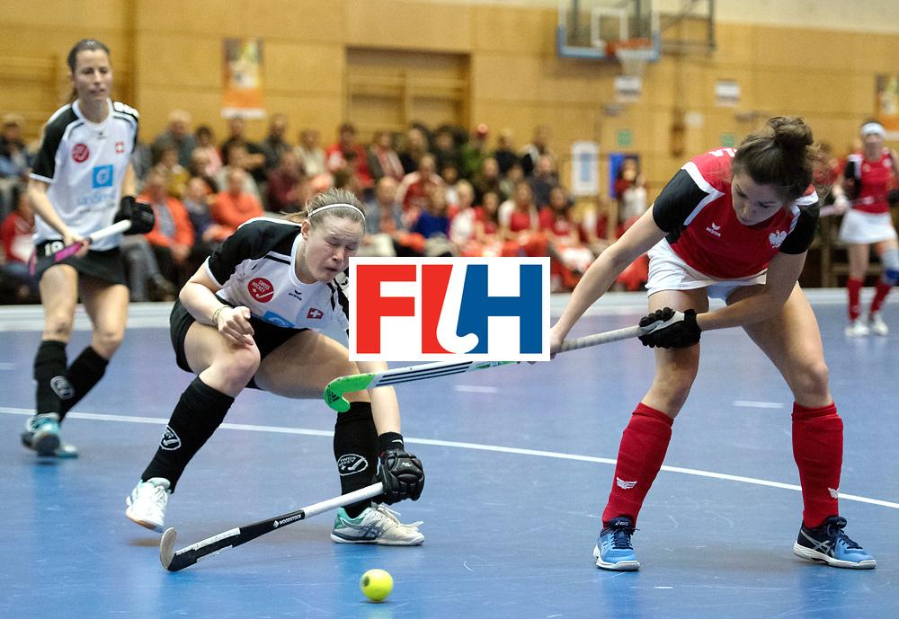 BERLIN - Indoor Hockey World Cup<br /> Switzerland - Poland<br /> foto: KATERLA Amelia<br /> WORLDSPORTPICS COPYRIGHT FRANK UIJLENBROEK