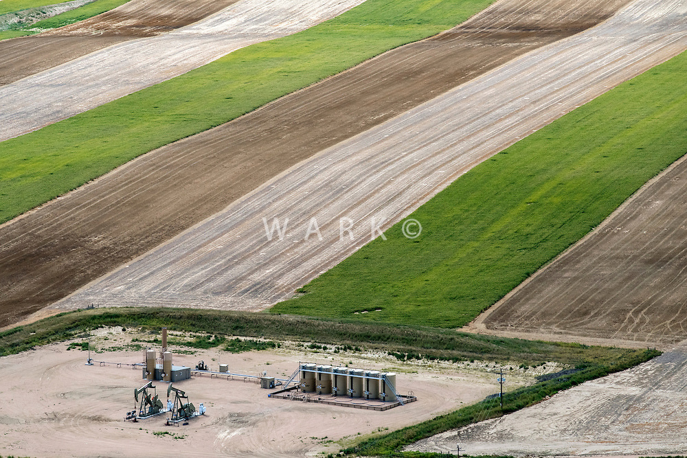 Oil Well and farmland, Weld County, Colorado.  Aug 2014. 812924