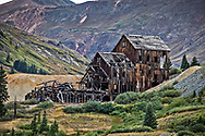 Abandoned mining building in Silverton Colorado, a  Animas Forks Historic Site.