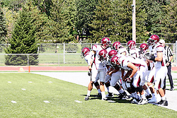 08 September 2012:  Alma Scots during an NCAA division 3 football game between the Alma Scots and the Illinois Wesleyan Titans which the Titans won 53 - 7 in Tucci Stadium on Wilder Field, Bloomington IL