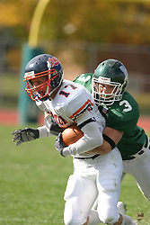 22 October 2005: Matched up all afternoon were the Thunders Joe Chupp and the Titans Eric Eash.  Eash's job was to wrap up Chupp and stop the big plays. The Illinois Wesleyan Titans posted a 23 - 14 home win by squeeking past the Thunder of Wheaton College at Wilder Field (the 5th oldest collegiate field in the US) on the campus of Illinois Wesleyan University in Bloomington IL