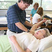 Patient receiving physical therapy in Richmond, Virginia.