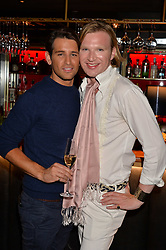 Ollie Locke and Henry Conway at the Quaglino's Q Legends Summer Launch Party hosted by Henry Conway at Quaglino's, 16 Bury Street, London England. 18 July 2017.<br /> Photo by Dominic O'Neill/SilverHub 0203 174 1069 sales@silverhubmedia.com