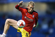 Rotherham United midfielder Paul Green warming up during the Sky Bet Championship match between Brighton and Hove Albion and Rotherham United at the American Express Community Stadium, Brighton and Hove, England on 15 September 2015.