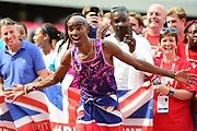 Mo Farah after the 3000m Men during the Muller Anniversary Games at the London Stadium, London, England on 9 July 2017. Photo by Jon Bromley.
