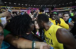 August 5, 2017 - London, Great Britain - Usain Bolt and girlfriend ?..IAAF World Championships, Day 2, London, UK, 2017-08-05..(c) WIXTRÖM JIMMY  / Aftonbladet / IBL BildbyrÃ¥....* * * EXPRESSEN OUT * * *....AFTONBLADET / 85325 (Credit Image: © WixtrÖM Jimmy/Aftonbladet/IBL via ZUMA Wire)
