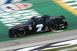 July 13, 2018 - Sparta, Kentucky, United States of America - Jesse Little (7) brings his race car down the front stretch during practice for the Quaker State 400 at Kentucky Speedway in Sparta, Kentucky. (Credit Image: © Chris Owens Asp Inc/ASP via ZUMA Wire)