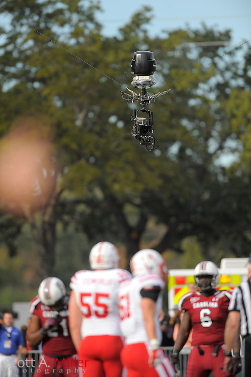 An ESPN SkyCam during the Capital One Bowl between the South Carolina Gamecocks and the Nebraska Cornhuskers at Florida Citrus Bowl on Jan. 2, 2012 in Orlando, Fla. South Carolina won 30-13...©2012 Scott A. Miller
