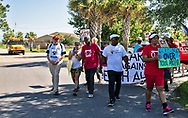 First day of 5 day CADA march in Cancer Alley in front of the 5th Ward Elementary Shcool.