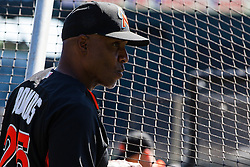 SAN FRANCISCO, CA - APRIL 24: Barry Bonds #25 of the Miami Marlins watches his team during batting practice before the game against the San Francisco Giants at AT&T Park on April 24, 2016 in San Francisco, California.  The Miami Marlins defeated the San Francisco Giants 5-4. (Photo by Jason O. Watson/Getty Images) *** Local Caption *** Barry Bonds