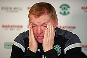 Neil Lennon, head coach of Hibernian FC during the Hibernian Press Conference at Hibernian Training Centre, Ormiston, Scotland on 8 November 2018.