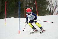 Paul Ladouceur Slalom U12 mens first run with Gunstock Ski Club.  ©2017 Karen Bobotas Photographer