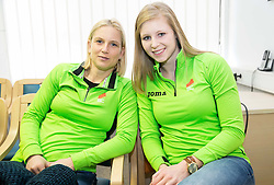 Marina Tomic and Maja Mihalinec during press conference of Slovenian Team for European Indoor Athletics Championships Prague 2015, on March 4, 2015 in Ljubljana, Slovenia. Photo by Vid Ponikvar / Sportida