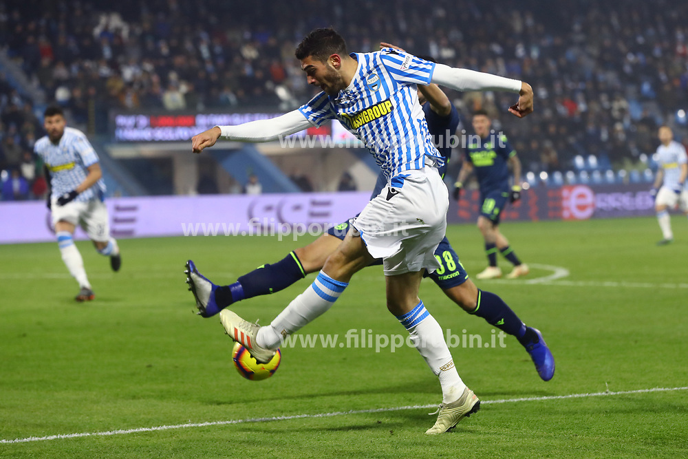 "Foto /Filippo Rubin<br /> 26/12/2018 Ferrara (Italia)<br /> Sport Calcio<br /> Spal - Udinese - Campionato di calcio Serie A 2018/2019 - Stadio ""Paolo Mazza""<br /> Nella foto: MATTIA VALOTI (SPAL)<br /> <br /> Photo /Filippo Rubin<br /> December 26, 2018 Ferrara (Italy)<br /> Sport Soccer<br /> Spal vs Udinese - Italian Football Championship League A 2018/2019 - ""Paolo Mazza"" Stadium <br /> In the pic: MATTIA VALOTI (SPAL)"