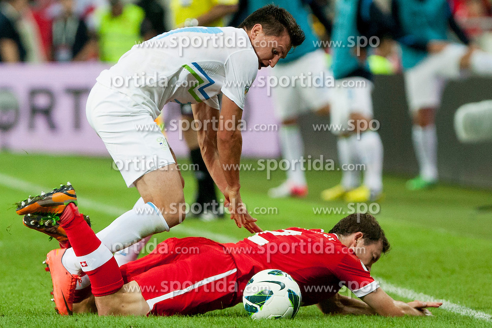 Stephan Lichtsteiner of Sweitterland during qualifications football match for world cup 2014 in Brazil between national team of Slovenia and Switzerland, on September 7, 2012 in Ljubljana, Slovenia. (Photo by Urban Urbanc / Sportida.com)