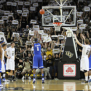 Memphis guard Will Barton (5) shoots a free throw during a Conference USA NCAA basketball game between the Memphis Tigers and the Central Florida Knights at the UCF Arena on February 9, 2011 in Orlando, Florida. Memphis won the game 63-62. (AP Photo: Alex Menendez)