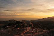Sunset during monsoon is seen from Windy Point, Mount Lemmon, Coronado National Forest, Sonoran Desert, a Sky Island near Tucson, Arizona, USA.