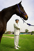 Munther Al Hindi, CEO of M.A.H. at a farm in Dubai, United Arab Emirates..For Forbes Arabia by Siddharth Siva
