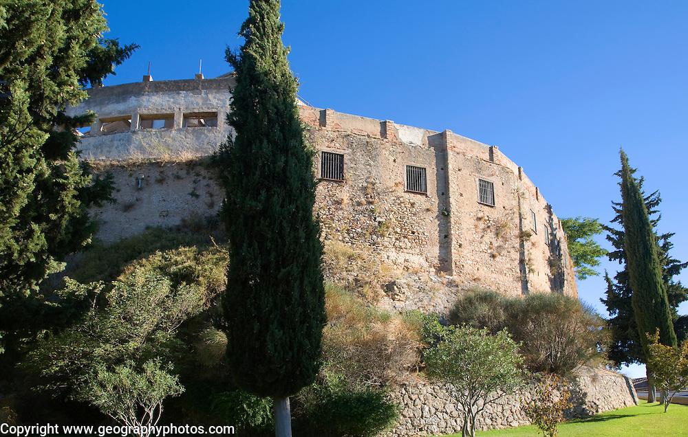 Part of the old city defensive walls Cuesta las Imagenes, Ronda, Spain