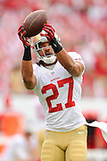 San Francisco 49ers defensive back C.J. Spillman (27) during the 49ers 33-14 win over the Tampa Bay Buccaneers at Raymond James Stadium on December 15, 2013 in Tampa, Florida.                                    ©2013 Scott A. Miller