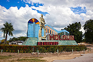 Province entry sign in Holguin, Cuba.