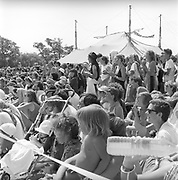 Crowd at the theatre, Glastonbury, Somerset, 1989