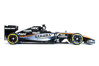 Sahara Force India F1 Team livery reveal.<br /> Sahara Force India F1 Team Livery Reveal, Soumaya Museum, Mexico City, Mexico. Wednesday 21st January 2015.