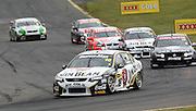 James Courtney in the Jim Beam Racing Falcon leads Rick Kelly, Steve Johnson and Garth Tander during the Norton 360 Sandown Challenge held at the Sandown International Motor Raceway, Victoria on Sunday 2nd August. 2009 V8 Supercar Series Rounds 13 and 14. Photo © Clay Cross/PHOTOSPORT
