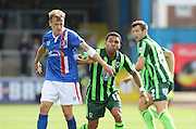 Andy Barcham during the Sky Bet League 2 match between Carlisle United and AFC Wimbledon at Brunton Park, Carlisle, England on 22 August 2015. Photo by Stuart Butcher.