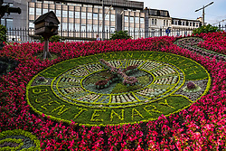 Princes Street Flower Clock in Edinburgh, Scotland, United Kingdom.
