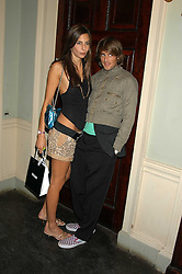ZARA SIMON and    at the Tatler Summer Party in association with Moschino at Home House, 20 Portman Square, London W1 on 29th June 2005.<br /><br />NON EXCLUSIVE - WORLD RIGHTS