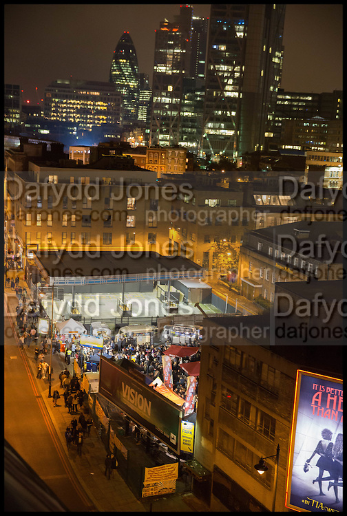 VIEW FROM THE ACE HOTEL, Frieze party, ACE hotel Shoreditch. London. 18 October 2014
