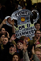 Photo: Jed Wee.<br /> Manchester City v West Ham United. The FA Cup. 20/03/2006.<br /> <br /> Cup fever reaches the West Ham fans.